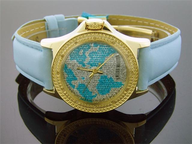 New Ladies 34mm Swiss Master by KM 12 Diamonds Watch