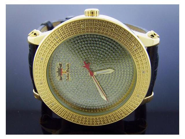 Techno Royale 50mm Round Yellow Gold 12 Diamonds Watch