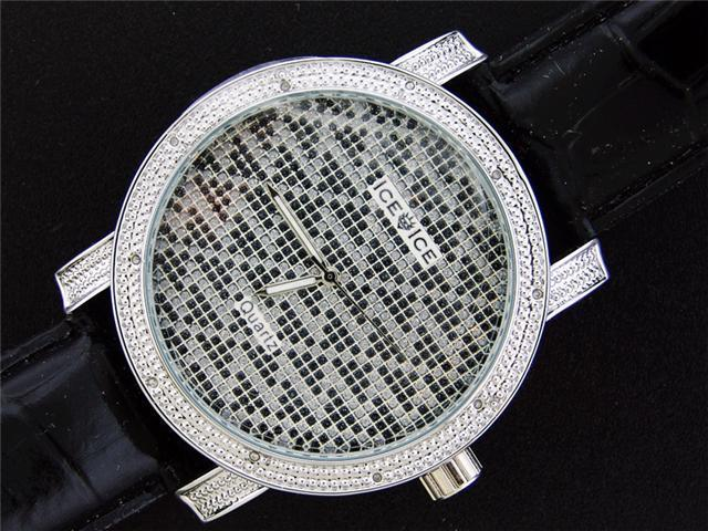 Ice Ice By Icetime 50M 0.10CT Diamond Silver Face watch