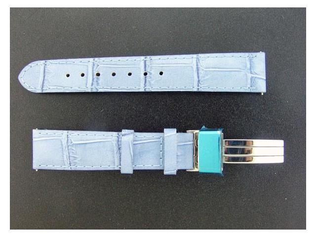 NEW AQUA MASTER ONE PIN 17 MM BLUE COLOR WATCH BAND
