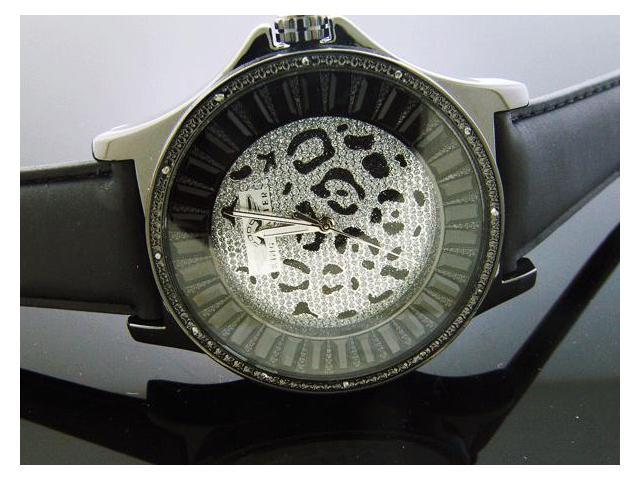 New King Master 12 Diamonds Watch with Black Case