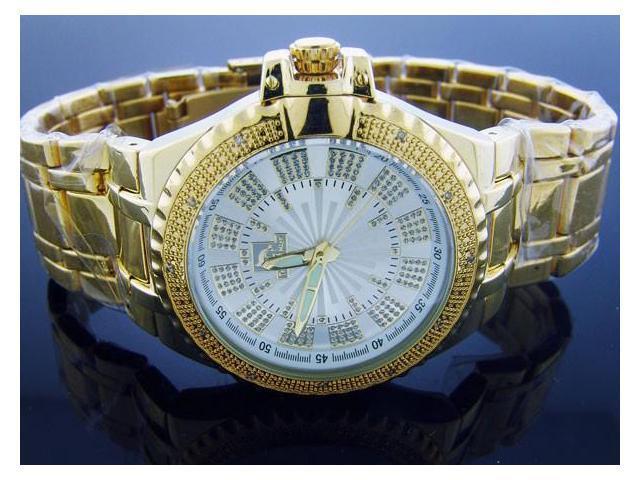 Techno Master 12 Diamond TM-2132 Yellow Gold 47MM Watch