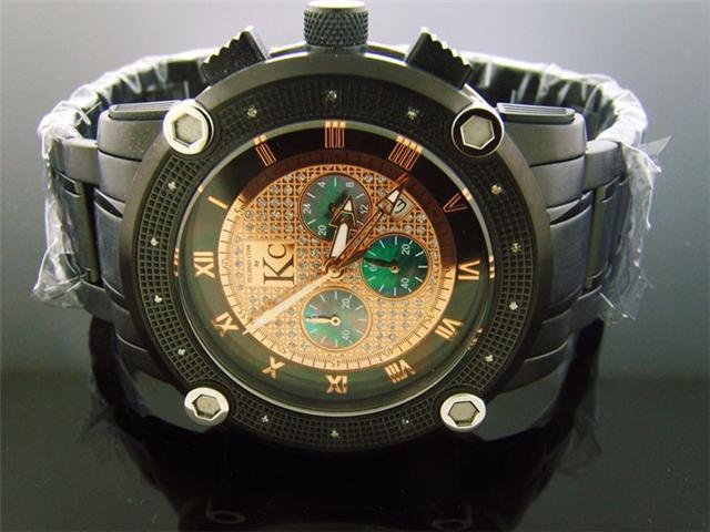 Techno Com by KC Black case 50MM 0.25CT Diamonds Watch