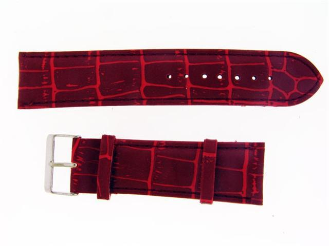 New King Master Single pin leather band 22mm Red