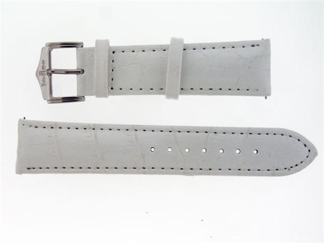 New Techno Master Single pin leather band 22mm White