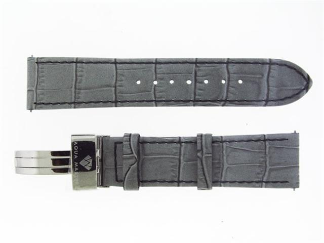 New Aqua Master Single pin leather band 22mm Gray