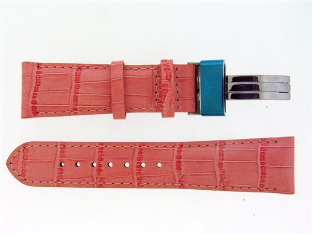 New Aqua Master Double pin leather band 24mm pink