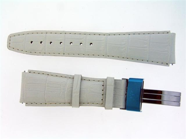 New Aqua Master Single pin leather band 22mm WHITE