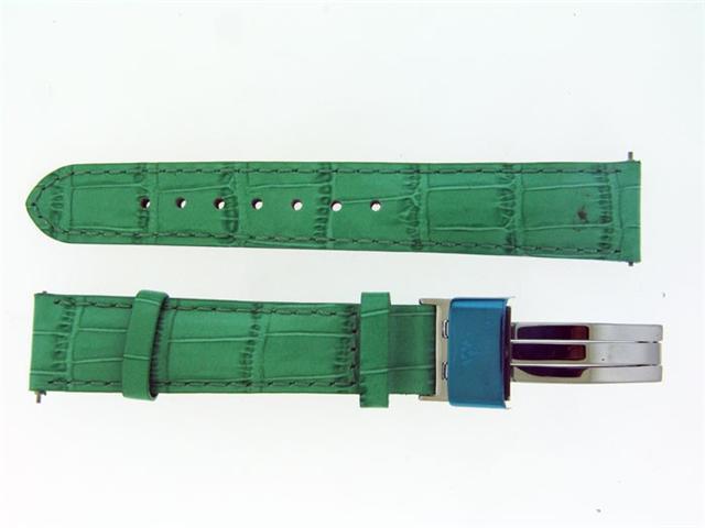 New Aqua Master Single pin leather band 18mm GREEN