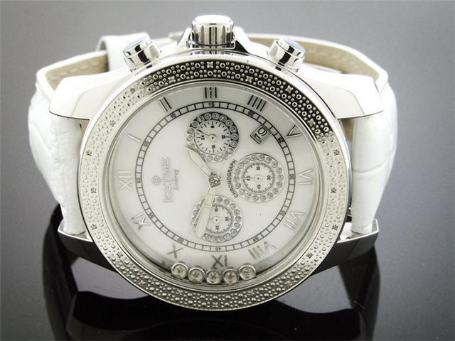 Men's Icetime 47mm Round Icebarg 25 Diamonds Watch