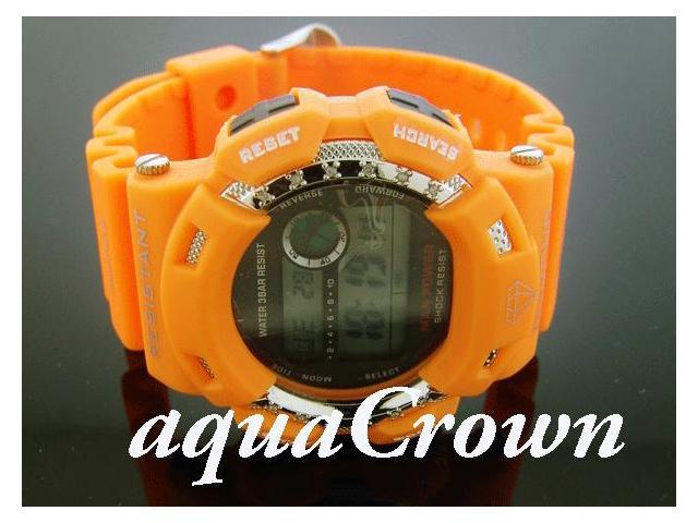 Men's Diamond Shock by King Master 12 Diamond Orange