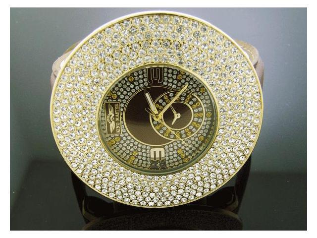 Men's King Master JUMBO 60MM Bezel W/ 12 Diamond Watch
