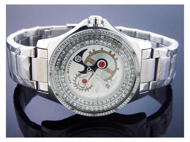 Men's King Master 12 Diamond 50MM Round Watch