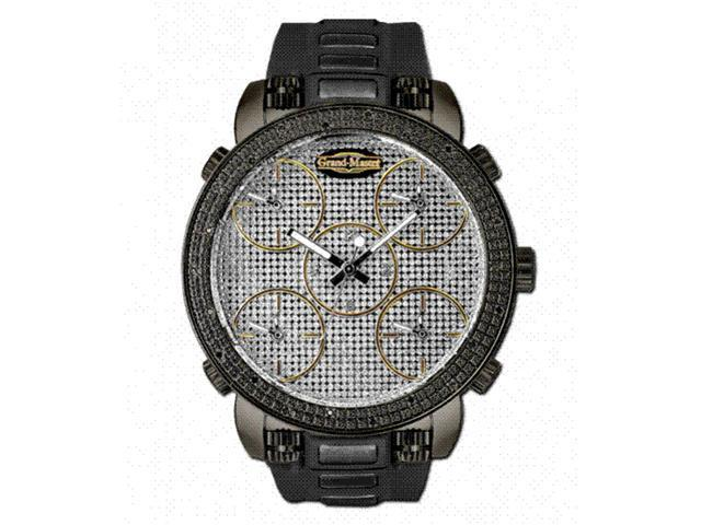 New Grand Master 22 Diamonds 52MM Five Time Zone Watch