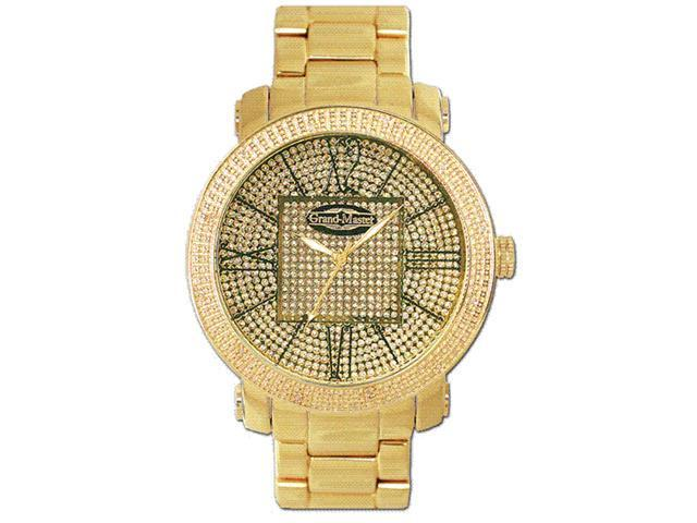 New Grand Master Round 12 Diamonds 50MM YG Watch