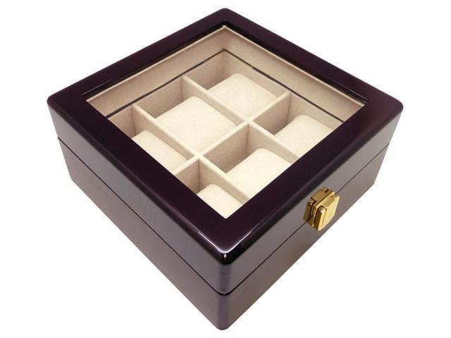 NEW DESIGN* Heiden Premier Cherrywood 6 Watch Box
