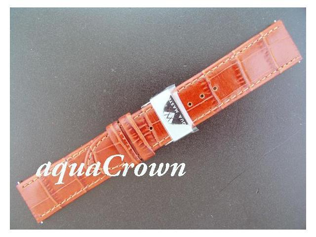 New Aqua Master One pin leather Brown band 22mm