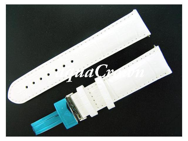 New Aqua Master One pin leather White band 22mm