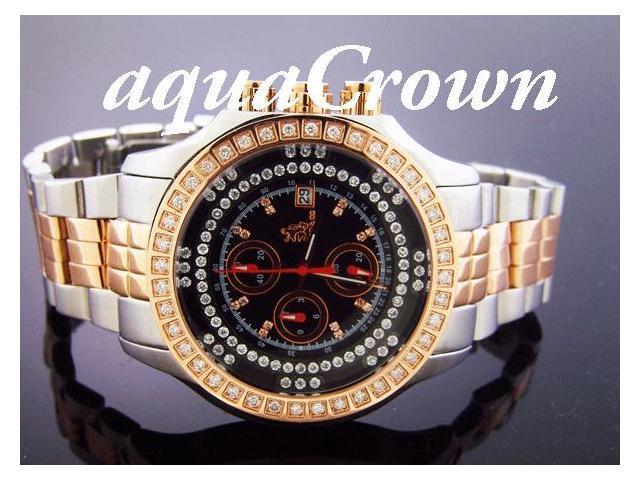 Richard & co 1.00CT Aqua Diamond 2 Tone Watch RC-3016