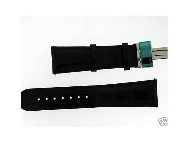 New Aqua Master Single pin leather band 22mm Black