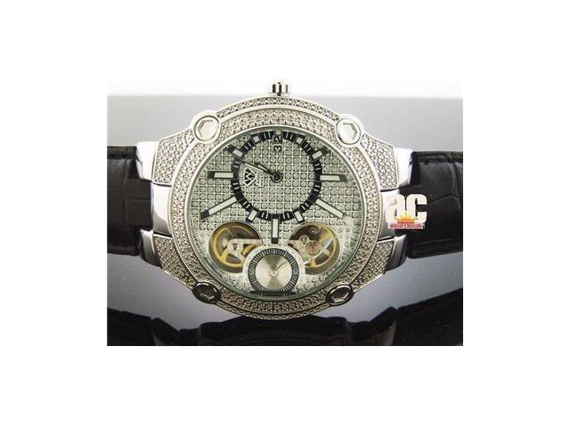 NEW AQUA MASTER 45 MM ROUND 20 DIAMONDS AUTOMATIC WATCH