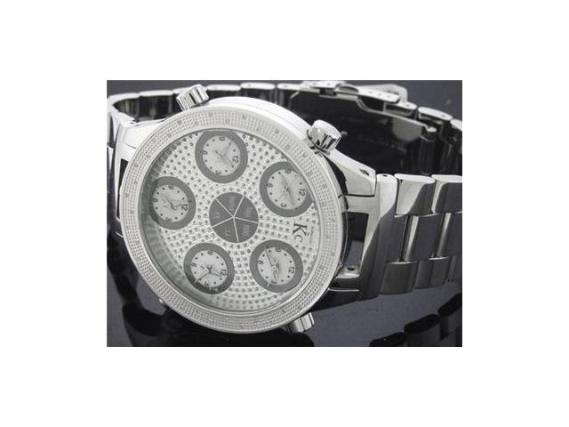 TechnoCom By KC 5Time Zone Genuine 0.40Ct Diamond Watch