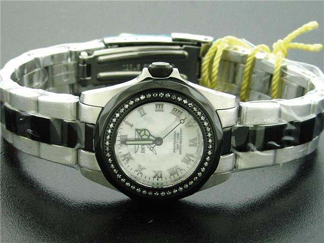 Invicta Women 0.37CT Diamond Swiss Quartz Stainless Steel Watch
