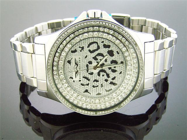 King Master 50MM 12 Diamonds watch Silver Face