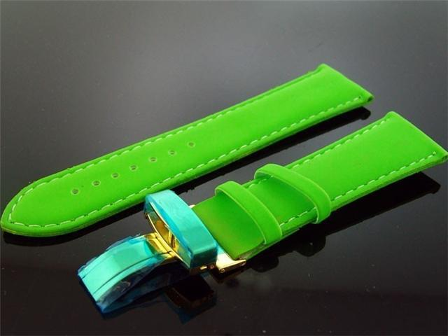 King Master One pin Green leather band 24mm