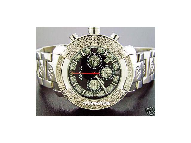 Aqua Master Large Round 20 Diamonds Stainless steel Watch