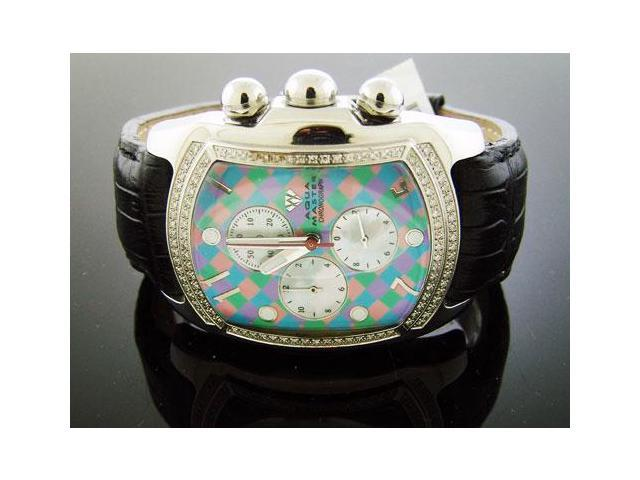BRANDNEW! MEN'S BIG Aqua Master Chrono W/Diamond 1.25CT