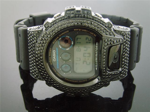 Men's Casio G Shock Full Case CZ Black crystal & Face Watch