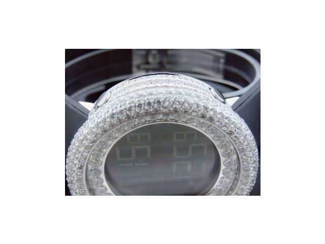Mens 50mm Techno Com Kc Simulated White Diamond Watch 15 Ct Full Case Wow