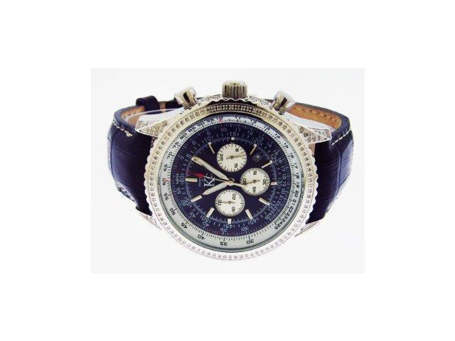Techno Com By Kc Full Case Diamonds 50mm Blue Face Watch