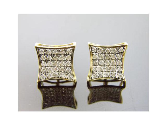 Brand new Unisex 14K Yellow Gold Diamond Earrings W/ 0.52CT 2.62Grms