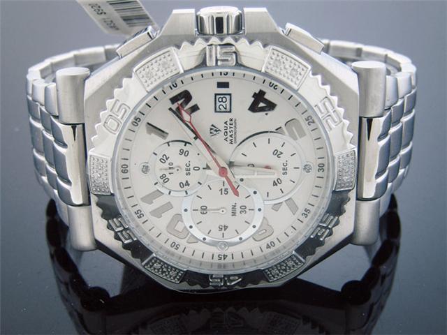 New Men's Aqua Master Warfair 0.12 CT Diamonds Watch