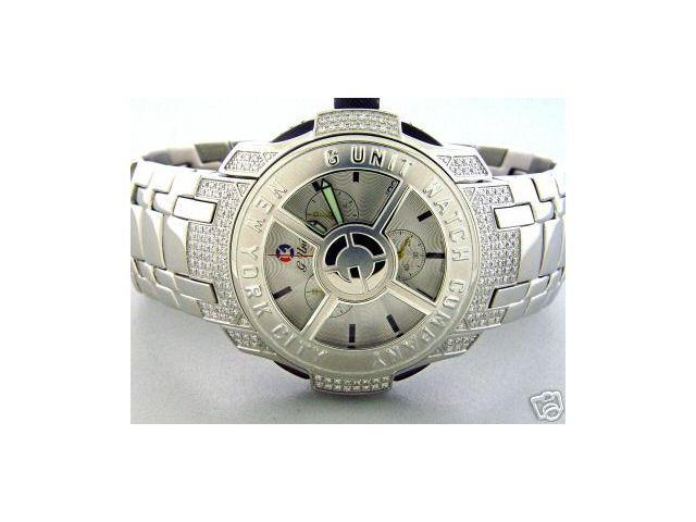 New! 50 CENT G-Unit GS8- 44mm 1.45CT Diamond Watch