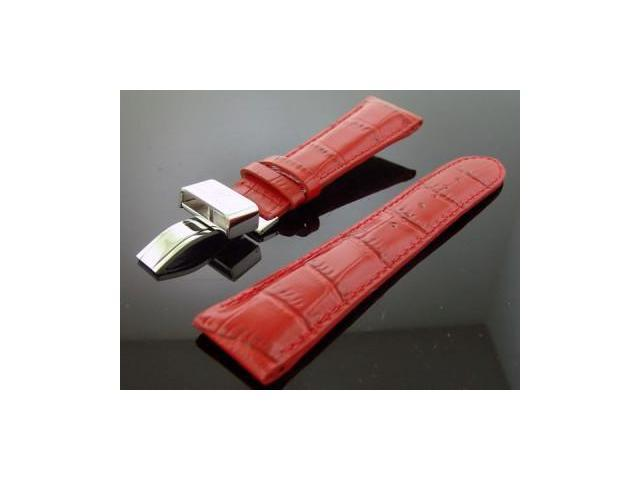 Aqua Master 24mm Wide Red Color double pin watch band