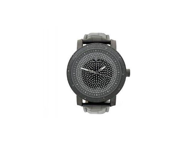 Men's Super Techno by Joe Rodeo 0.10CT Diamonds Watch M6004 Black Face & Case