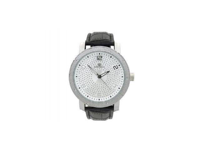 Men's Super Techno by Joe Rodeo 0.10CT Diamonds Watch M6038 Silver Face & Case