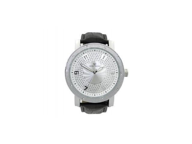 Men's Super Techno by Joe Rodeo 0.10CT Diamonds Watch M6040 Silver Face & Case