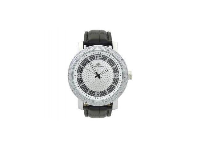 Men's Super Techno by Joe Rodeo 0.10CT Diamonds Watch M6044 Silver Face & case