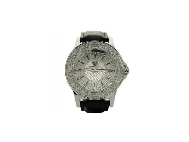 Men's Super Techno by Joe Rodeo 0.10CT Diamonds Watch M6123 Silver Face & case