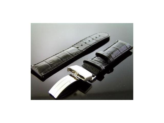 Aqua master 22mm Single pin Round watch Band Black Color