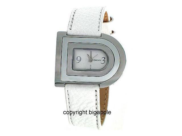 Dkny White Leather Band Ladies Watch NY4564