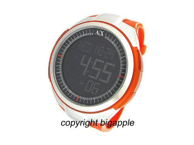 Armani Exchange Digital 50M Rubber Mens Watch AX1107