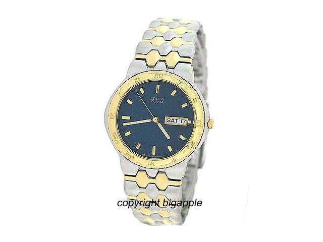 Citizen Men's Two-Tone SS Blue Dial Watch (BF0264-57L)
