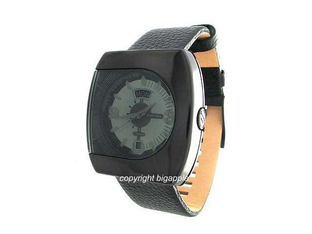Diesel Leather Band Day And Date Display Mens Watch DZ1133