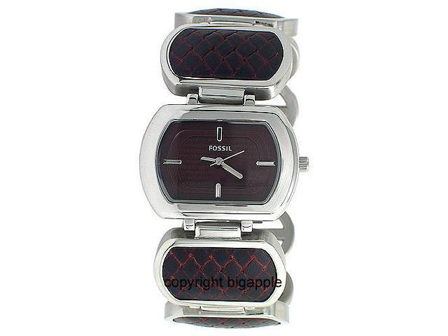 Fossil Woven Brown & Silver Bracelet Ladies Watch ES2296