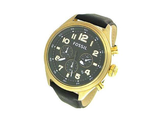 Fossil Classic Leather Vintaged Bronze Black Dial Men's watch #DE5000